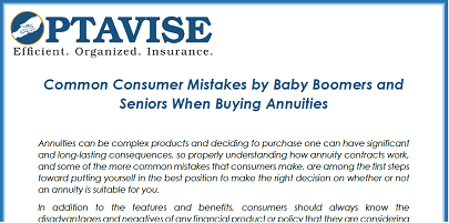 Common Consumer Mistakes When Purchasing Annuities