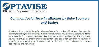 Common Social Security Mistakes for Baby Boomers and Seniors