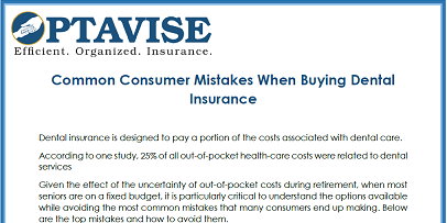 Consumer Mistakes by Seniors When Buying Dental insurance