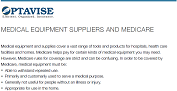 MEDICAL EQUIPMENT SUPPLIERS AND MEDICARE