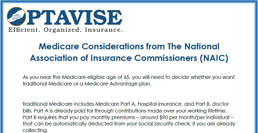 NAIC Considerations for Medicare
