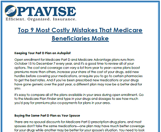 Top 9 Medicare Mistakes Consumer Guide