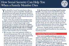 What to Do When Someone Dies Social Security